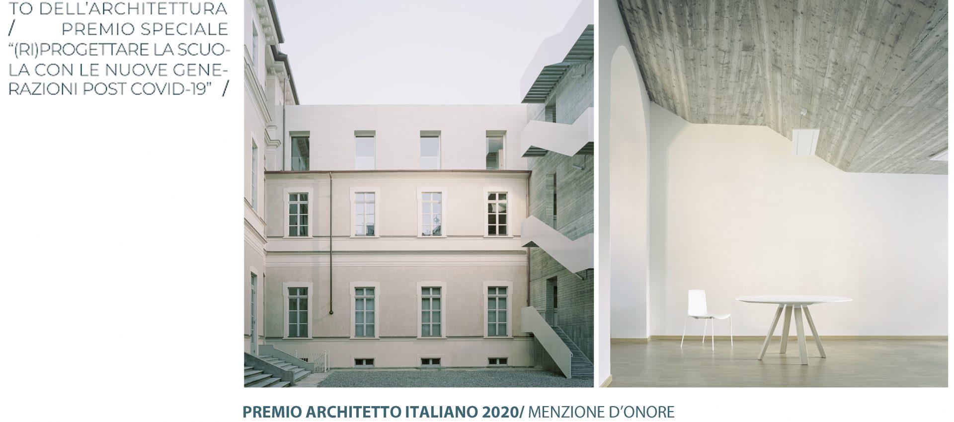 Areaprogetti menzione d'onore Festa dell'Architetto italiano 2020